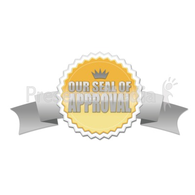 Seal With Ribbon Presentation clipart
