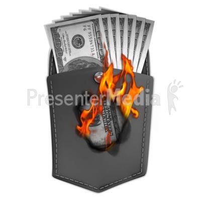Money Burning Hole In Pocket Presentation clipart