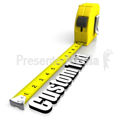 Tape Measuring Text Presentation clipart