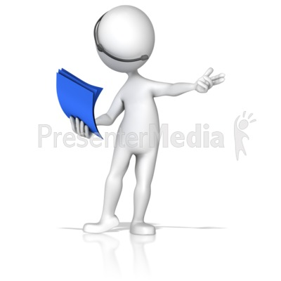 Presenter Wireless Headset And Notes Presentation clipart