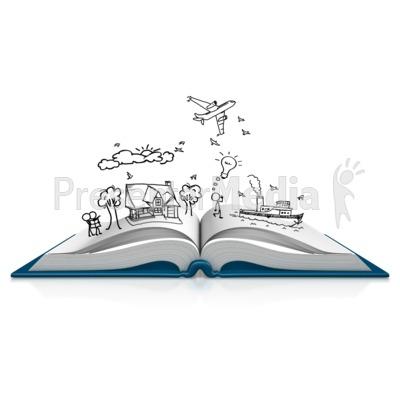 Book Dream Sketch Presentation clipart