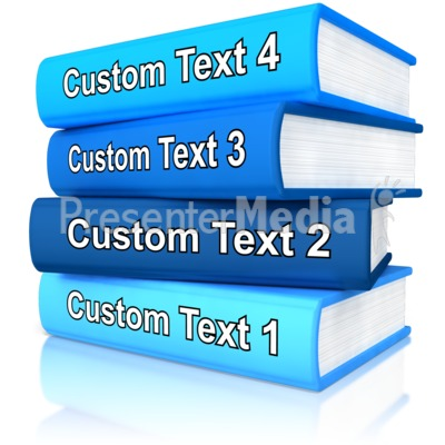 Custom Stack Of Books Presentation clipart