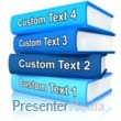 ID# 11960 - Custom Stack Of Books - Presentation Clipart