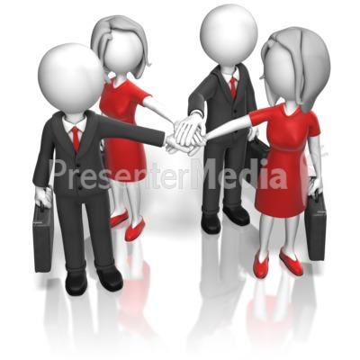 Business Team Huddle Presentation clipart