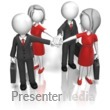 ID# 12008 - Business Team Huddle - Presentation Clipart