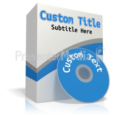 Custom Software Box Presentation clipart