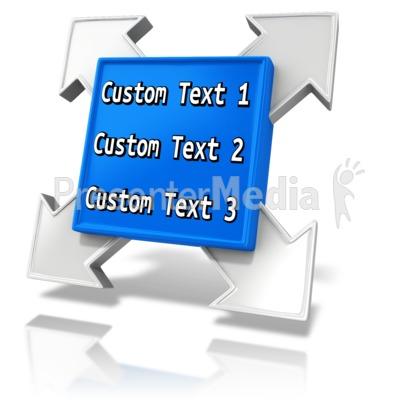 Custom Square Element Presentation clipart