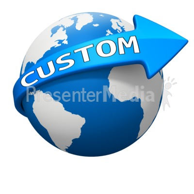 Custom World Arrow Curve Presentation clipart
