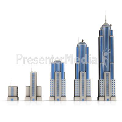 Business Building Bar Growth Presentation clipart