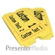 ID# 12192 - Pair Of Custom Movie Tickets - Presentation Clipart