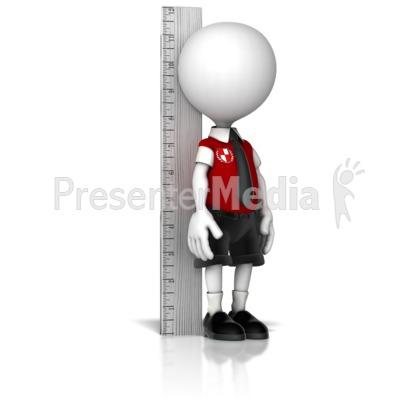 Boy School Child Measuring Up Presentation clipart