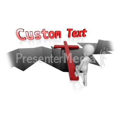 Custom Cross Bridge Presentation clipart