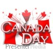 ID# 12288 - Canada Day Flag And Text - Presentation Clipart