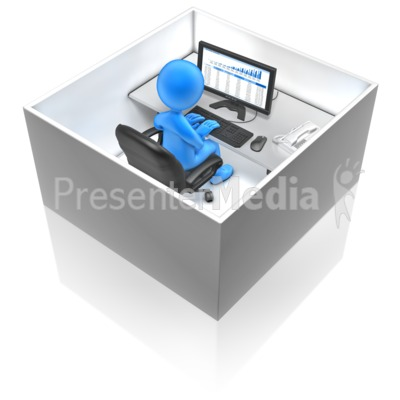 Working In A Box Presentation clipart