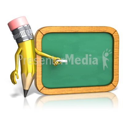 Pencil And Chalkboard Presentation clipart