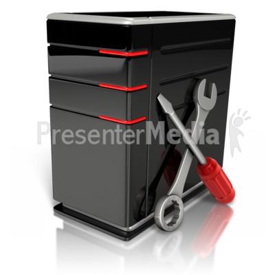 Repair Tech Computer Presentation clipart