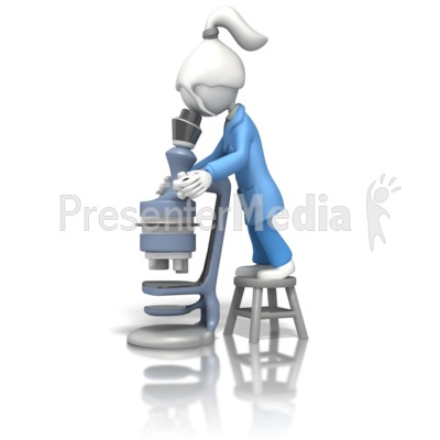 Lady Scientist And Microscope Presentation clipart