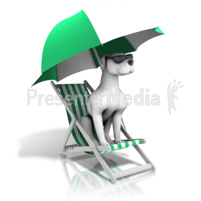 Lounging Dog Days Summer Presentation clipart