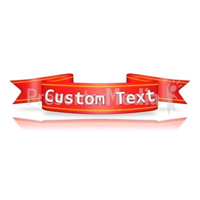 Custom Red Flag Banner Presentation clipart