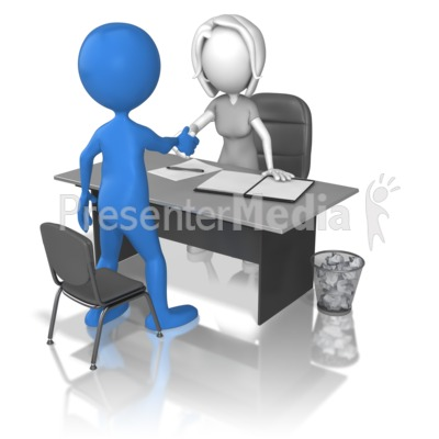 Woman Interview Hand Shake Presentation clipart
