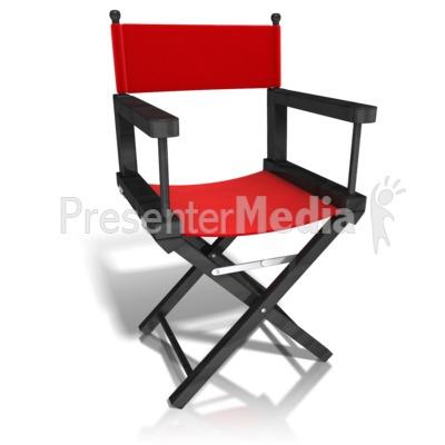 Movie Directors Chair Presentation clipart