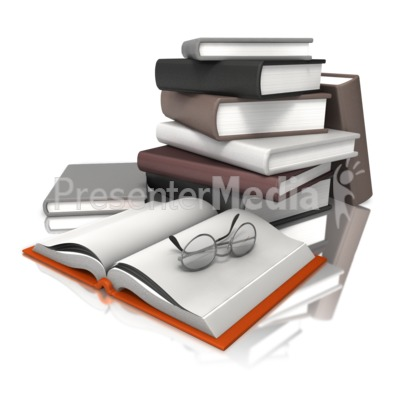 Books With Glasses Presentation clipart