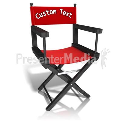 Custom Movie Directors Chair Presentation clipart