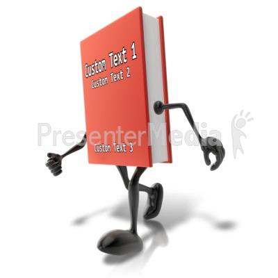 Custom Walking Book Character Presentation clipart