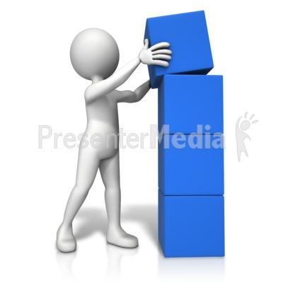 Four Stack Block Figure Presentation clipart