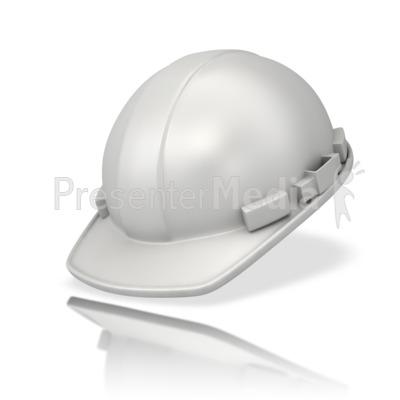 Plain White Hardhat Presentation clipart