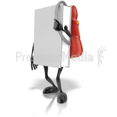 Book With Backpack Presentation clipart