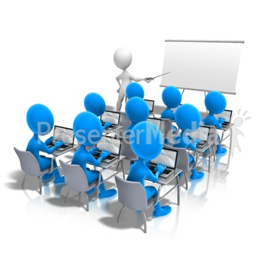 Students Laptop Teacher Presentation clipart