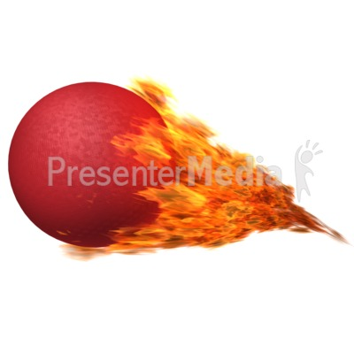 dodgeball flaming - presentation clipart - great clipart for
