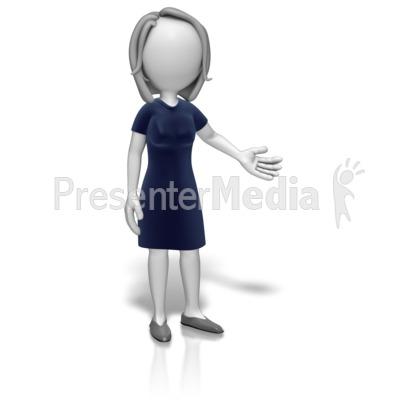 Woman Professional Presenting Presentation clipart