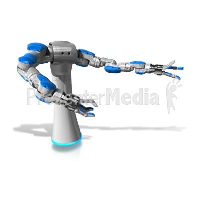 Mechanical Robol Gesturing Presentation clipart