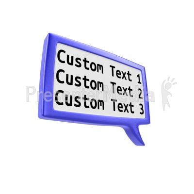 Custom Square Discussion Box Presentation clipart