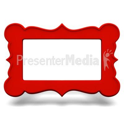 Ornate Picture Frame Presentation clipart