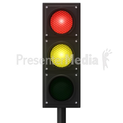 Europeon Traffic Light Presentation clipart