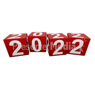 Custom Year Blocks Presentation clipart