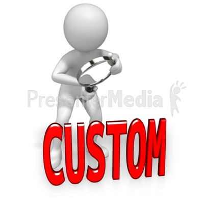 Look Closely Custom Text Presentation clipart