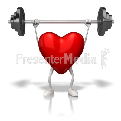 Exercising Weights Heart Presentation clipart