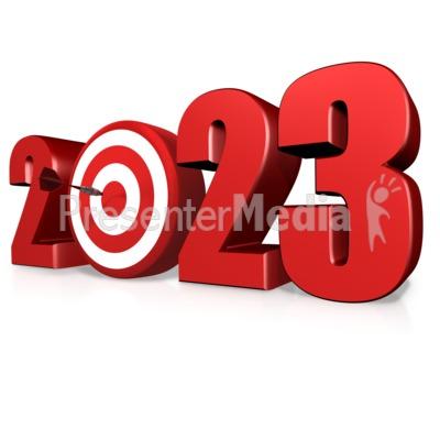 Custom Year Bullseye Presentation clipart