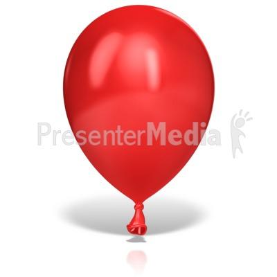 Single Large Balloon Presentation clipart