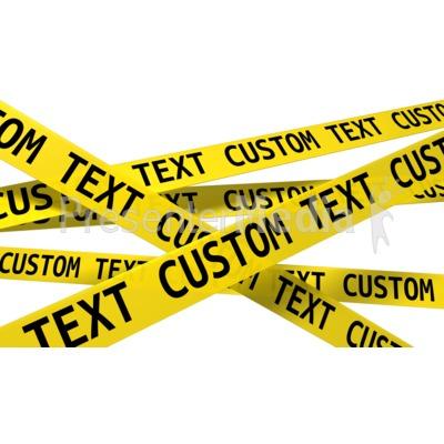 Custom Wall Of Crime Scene Tape Presentation clipart