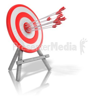 Arrow Target Accuracy Presentation clipart