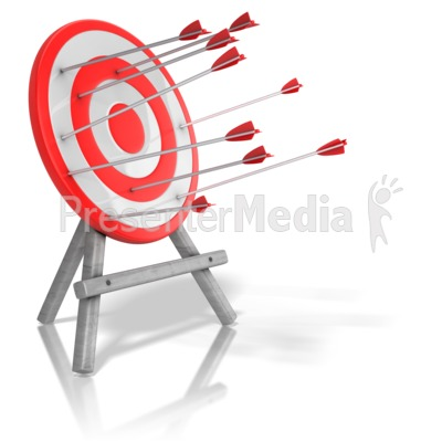 Arrow Target Inconsistency Presentation clipart