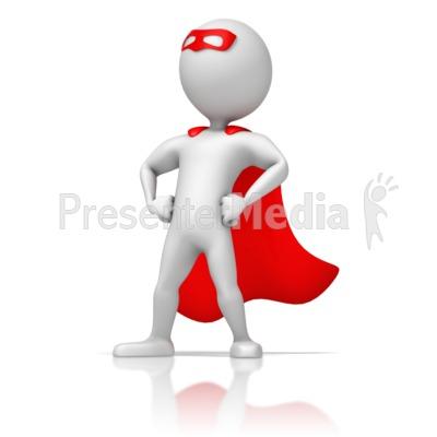 Masked Superhero Standing Strong Presentation clipart