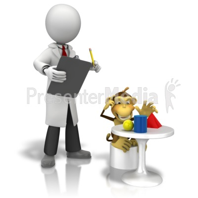 Observation Monkey Test Presentation clipart