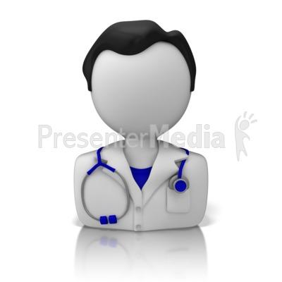 Male Doctor or Nurse Icon Presentation clipart
