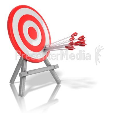 Arrow Target Precision Presentation clipart